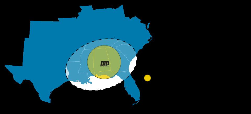 PTP Transport Target Recruitment Area - Auburn, Montgomery, Birmingham, Mobile, Huntsville, Columbus, Atlanta