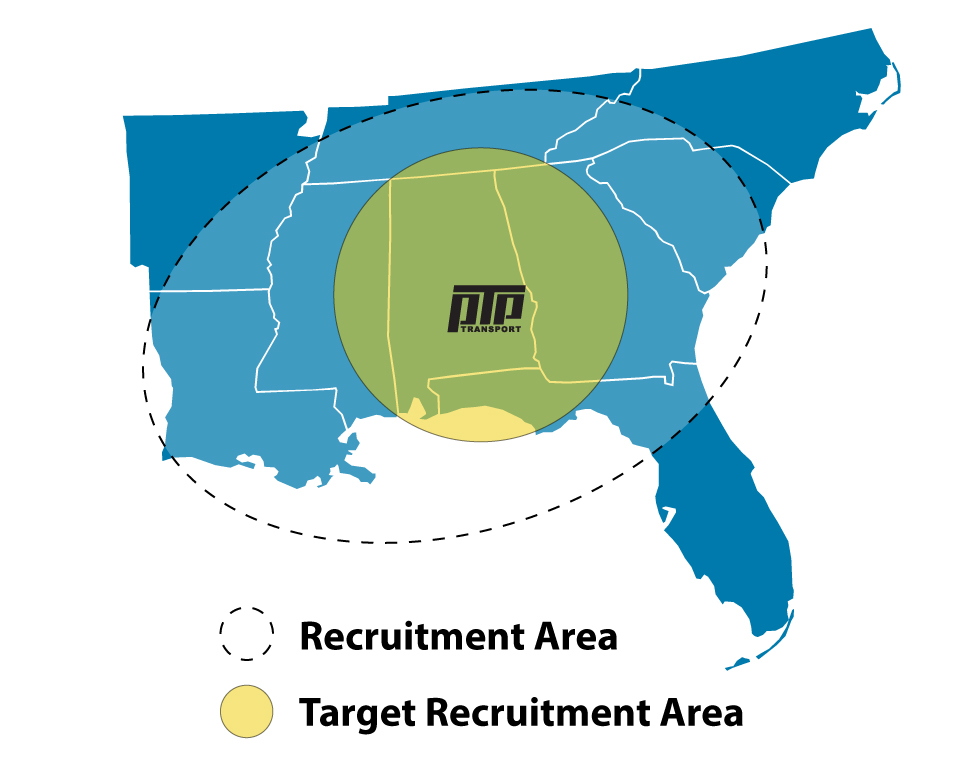 PTP Transport Driver Recruitment Map